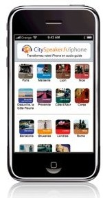 CitySpeaker.fr : l'iPhone devient un audio guide