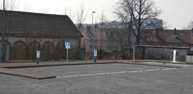 L'aire de stationnement des camping-cars de Belfort sera située sur le parking de l'Epide, près de la vieille-ville - DR : ville de Belfort