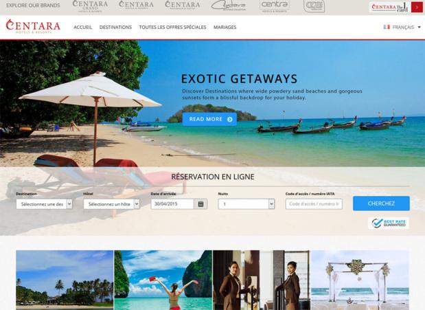 Centara Hotels & Resorts lance un nouveau site web