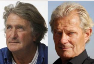 Olivier de Kersauson (à gauche) et Jacques Rougerie (à droite) voyageront avec les clients de Ponant sur l'Austral - DR : Ponant