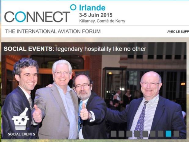 Les participants au salon Connect auront l'occasion d'apercevoir Laurent Magnin le PDG d'XL Airways (sans sa casquette) faire un câlin à Francois Bacchetta le DG France d'easyjet. DR