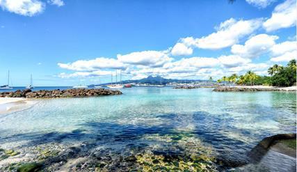 La fréquentation touristique de la Martinique pendant la haute-saison 2014/2015 a subi la baisse des capacités aériennes entre Paris et Fort-de-France - Photo Comité Martiniquais du Tourisme
