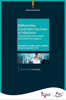 """Couverture du nouveau guide des """"Référentiels d'activités Tourisme et Hôtellerie"""" - DR : Atout France"""