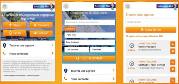 Selectour Afat met en ligne les versions mobiles de ses différents sites Internet - DR : Selectour Afat
