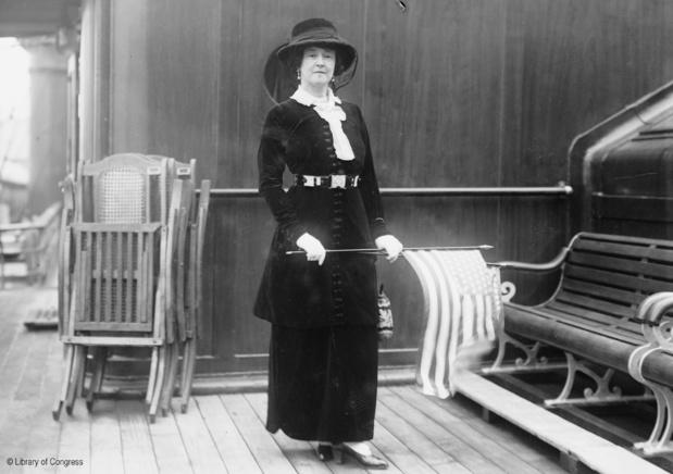 Lady Duff Gordon passagère de 1ère classe. Library of Congress.