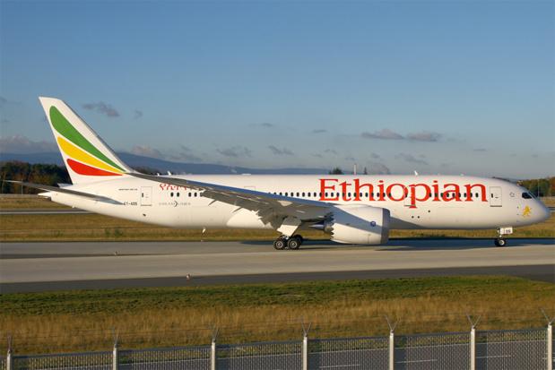 Ethiopian Airlines opère quatre vols hebdomadaires à destination d'Adis-Abeba, son hub, à partir duquel il est possible de rejoindre Arusha - Photo Wikipedia Uploaded by Jetstreamer