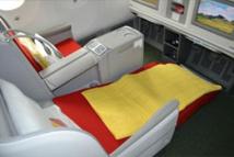 Le siège est large, confortable, tout de cuir habillé, entièrement électrique et l'espacement entre les rangées est de 1.65m - DR : Ethiopian Airlines