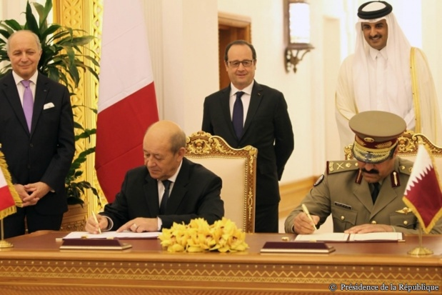 The employees of Air France don't hesitate to criticize the attitude of the government that offered slots to Qatar Airways in exchange for the purchase of Rafale airplanes by the Emirate. Here, during the signing. DR: Leadership of the Republic.