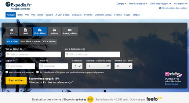 Le Tribunal de Commerce de Paris juge que les clauses d'Expedia pour les hôteliers créent un déséquilibre commercial - Capture d'écran
