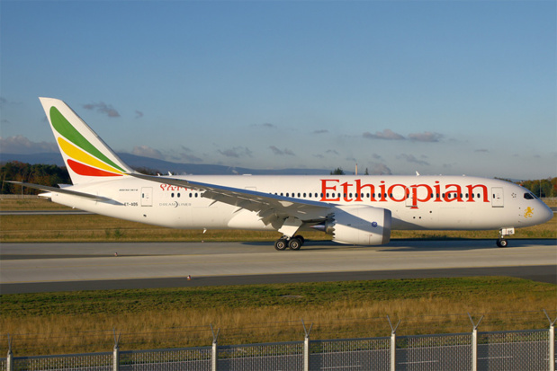 Ethiopian Airlines operates four weekly flights to the destination of Adis-Abeba, its hub, from which it is possible to get to Arusha - Photo Wikipedia Uploaded by Jetstreamer
