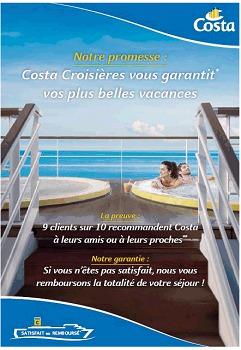 Costa continue de communiquer pour soutenir les ventes de l'été et de l'automne 2015 - DR : Costa Croisières