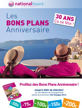 National Tours lance ses Bons Plans Anniversaire