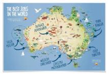 Répartition des différents jobs sur la carte © Présentation d'Elisa Detrez - Cliquer pour agrandir
