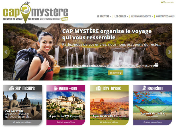 The travel agency Cap Mystère now has a website- DR