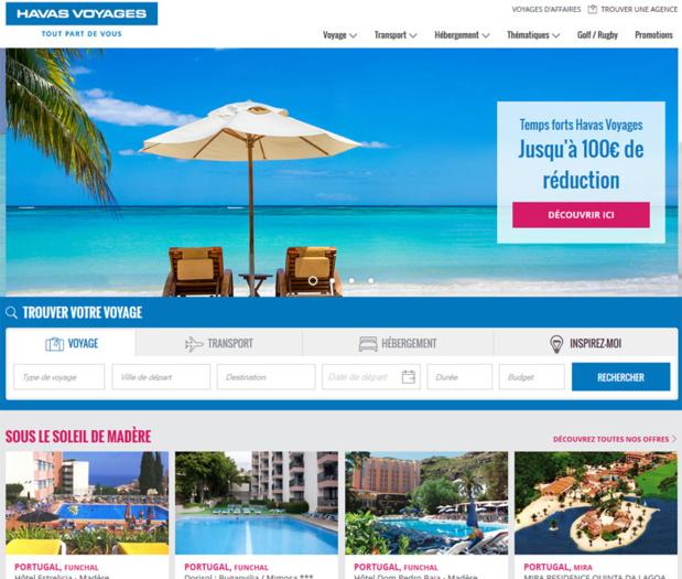 Le nouveau site Havas-Voyages.fr fait la part belle aux visuels - DR capture écran