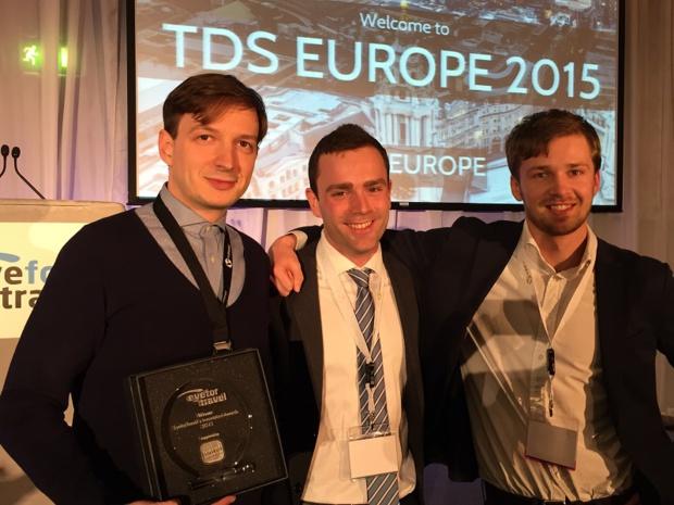 Le 6 mai dernier, au congrès Travel Distribution Summit de EyeForTravel  à Londres, Sépage a remporté le travel Award de l'innovation de l'année. ©Sépage