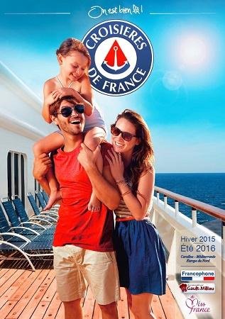 La nouvelle brochure de CDF est désormais disponible en agences de voyages - DR : Croisières de France