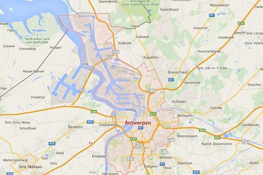Les deux hôtels vendus sont situés au cœur d'Anvers - DR : Google Maps