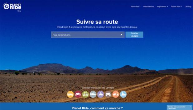 Planet Ride enregistre 12 000 visiteurs par mois sur le site. 160 demandes de voyages sont en cours de traitement, principalement pour des départs en 2016, mais six sont d'ores et déjà confirmées pour l'été - DR Capture d'écran Planet Ride