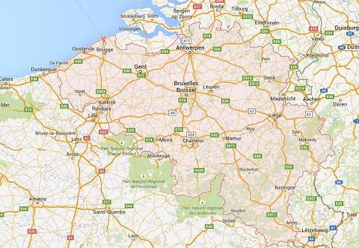Le trafic de l'ensemble des aéroports belges est fermé - DR : Google Maps