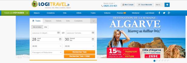 Le nouveau site de Logitravel.fr fait la part belle aux visuels - Capture d'écran