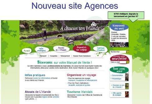 Un site dédié aux agences a été lancé cette année