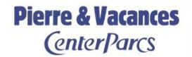 Pierre & Vacances/Center Parcs réduit sa perte nette au 1er semestre 2014/2015