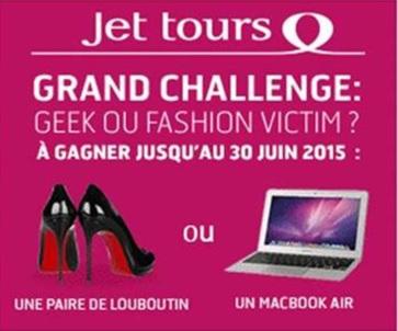 Jet tours fait gagner une paire de Louboutin et un MacBookAir