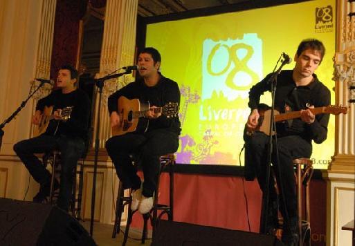Les Dead 60's (photo Xavier Desmier), l'un des groupes phare de la scène anglaise, natifs de Liverpool, étaient les invités surprise de la conférence de presse de l'OT de Grande-Bretagne.