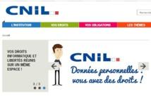 ©capture écran du site de la CNIL