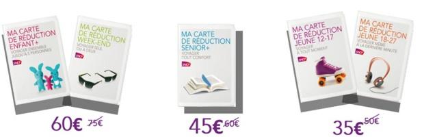 SNCF : 15€ offerts pour l'achat d'une carte de réduction