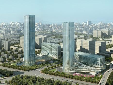 L'hôtel Rocco Forte de Shanghai sera situé dans les derniers étages du plus grand bâtiment du complexe urbain - Photo : Rocco Forte Hotels