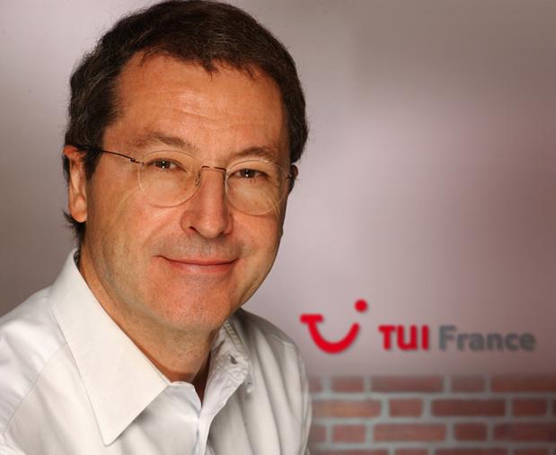 En 2012, Hervé Vighier émet des doutes sur la fusion des marques de TUI, annoncée par Pascal de Izzaguire, PDG de TUI France (sur la photo) - DR