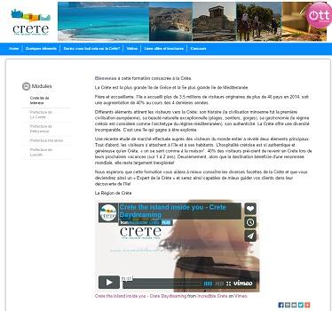 La Crète devient la première destination grecque à lancer un site d'e-learning - Capture d'écran