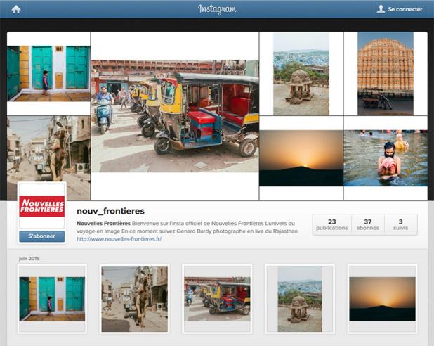 Nouvelles Frontières ouvre son compte Instagram