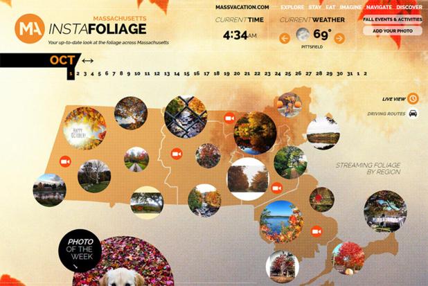 Massachusetts : une carte interactive met à l'honneur les photos des internautes