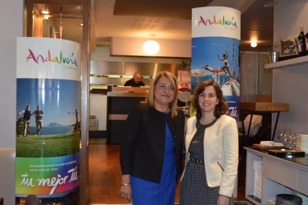 Maria Antonia Moro, vice-ministre du Tourisme de l'Andalousie et Barbara Couto, directrice adjointe de l'Office Espagnol à Paris - DR OT Espagne