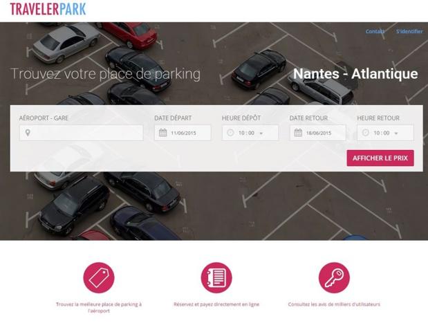 travelerpark.com, le nouveau moteur de réservation de places de parking dans les gares et aéroports ©capture d'écran TravelerPark