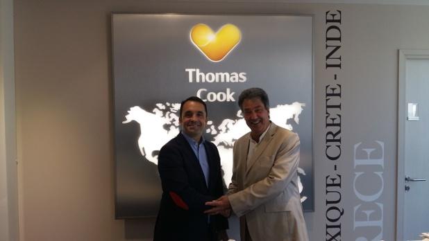 Nicolas Delord, Président de Thomas Cook France et Jean Dionnet, PDG d'Univairmer - DR : Thomas Cook France