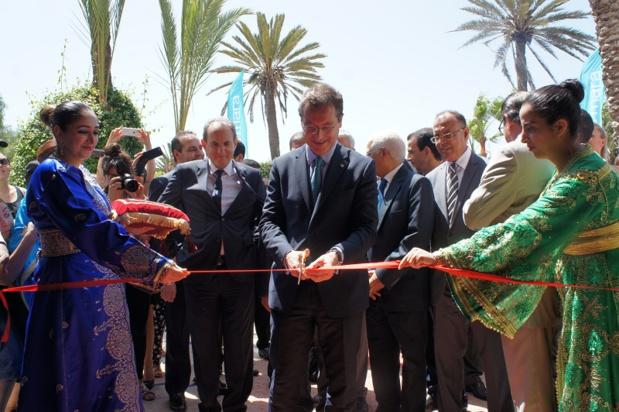 Pascal de Izaguirre, Président de TUI France, a inauguré le nouveau Club Marmara Les jardins d'Agadir, au Maroc - Photo CE