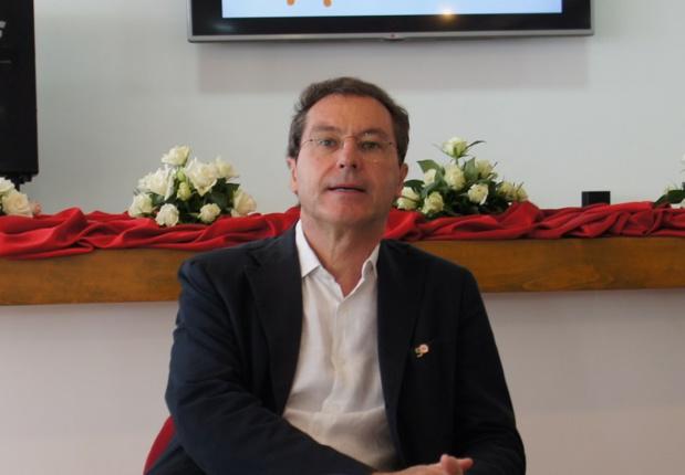 Pascal de Izaguirre lors du point presse organisé en marge de l'inauguration du Club Marmara Les Jardins d'Agadir - Photo CE