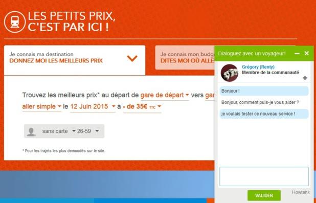Voyages-SNCF.com lance un tchat communautaire d'entraide entre les internautes