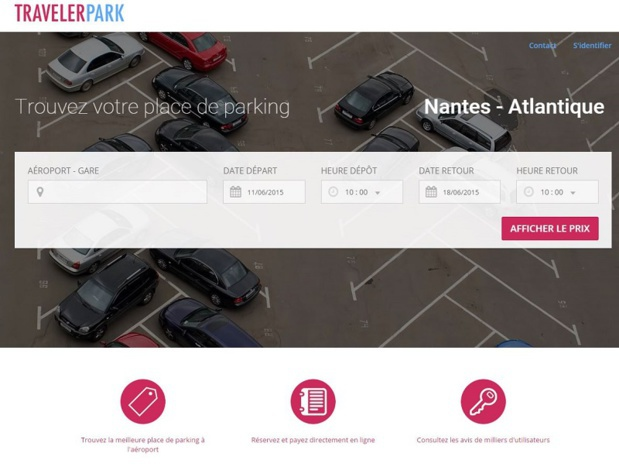 travelerpark.com, the new reservations system for parking spots in train stations and airports ©Screenshot TravelerPark