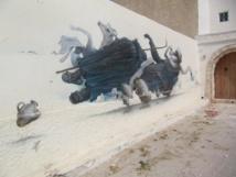 Sur l'île de Djerba, le village d'Errihad a accueilli près de 150 street-artistes en 2014. Ils ont réalisé de magnifiques œuvres sur les murs des maisons - Photo P.C.