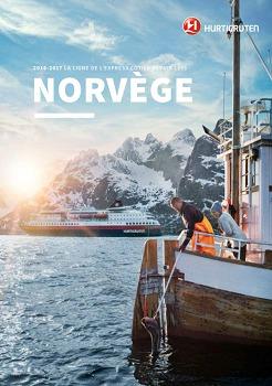 Couverture de la brochure 2016/2017 de l'Express Côtier d'Hurtigruten - DR : Hurtigruten