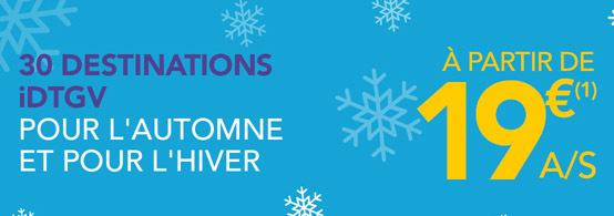 SNCF : ouverture des ventes iDTGV automne - hiver