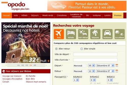 Opodo.fr lance une rubrique loisirs