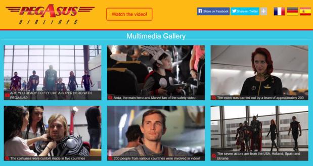 Pegasus Airlines : les personnages des Marvel vedettes de la vidéo de sécurité
