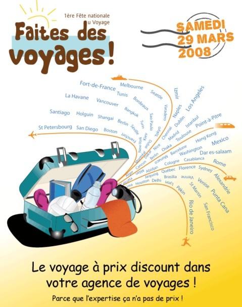 L'affiche de la « Faites des Voyages ! », 1ère Fête nationale du Voyage, signée Mélanie est en cours de finalisation, qu'en pensez-vous ?