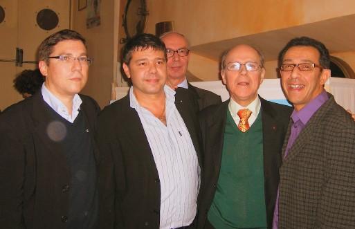 Autour de Jacques Maillot : Pascal Le Blavec (NF Lorient), Philippe Catrix (NF Dunkerque), Kamel Chaïbi (NF Bourg-en-Bresse) et Jean-Marie Foucher, ancien directeur de NF Distribution